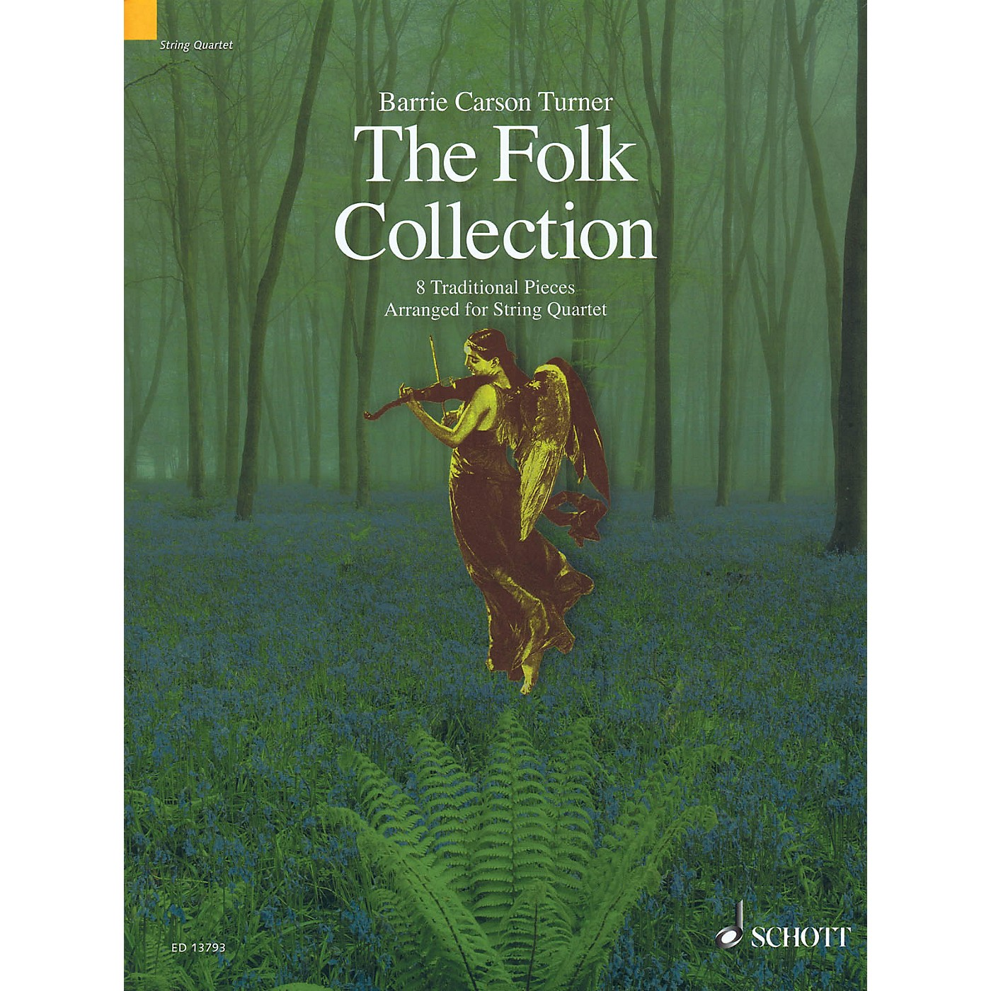 Schott The Folk Collection (8 Traditional Pieces arranged for String Quartet) String Ensemble Series by Various thumbnail