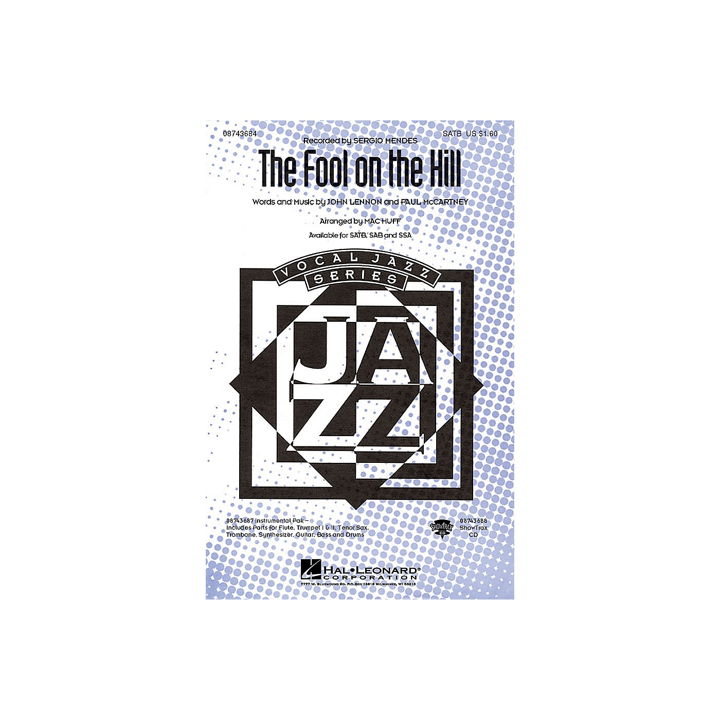 Hal Leonard The Fool on the Hill SAB by The Beatles Arranged by Mac Huff thumbnail