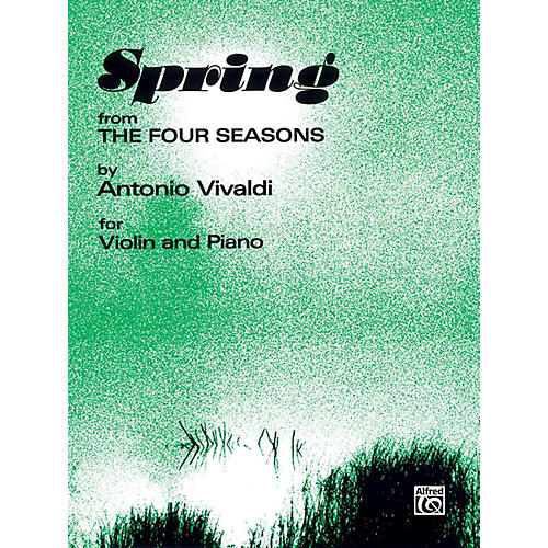 Alfred The Four Seasons: Spring for Violin By Antonio Vivaldi Book thumbnail