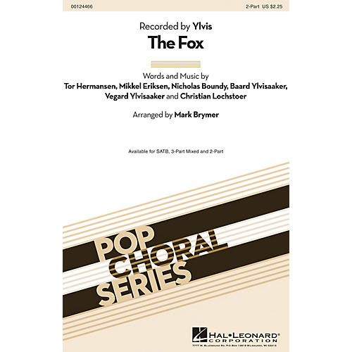 Hal Leonard The Fox 2-Part by Ylvis arranged by Mark Brymer thumbnail