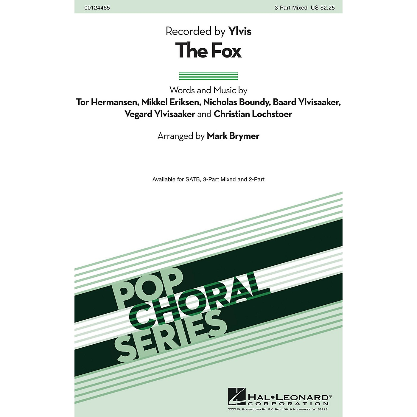 Hal Leonard The Fox 3-Part Mixed by Ylvis arranged by Mark Brymer thumbnail