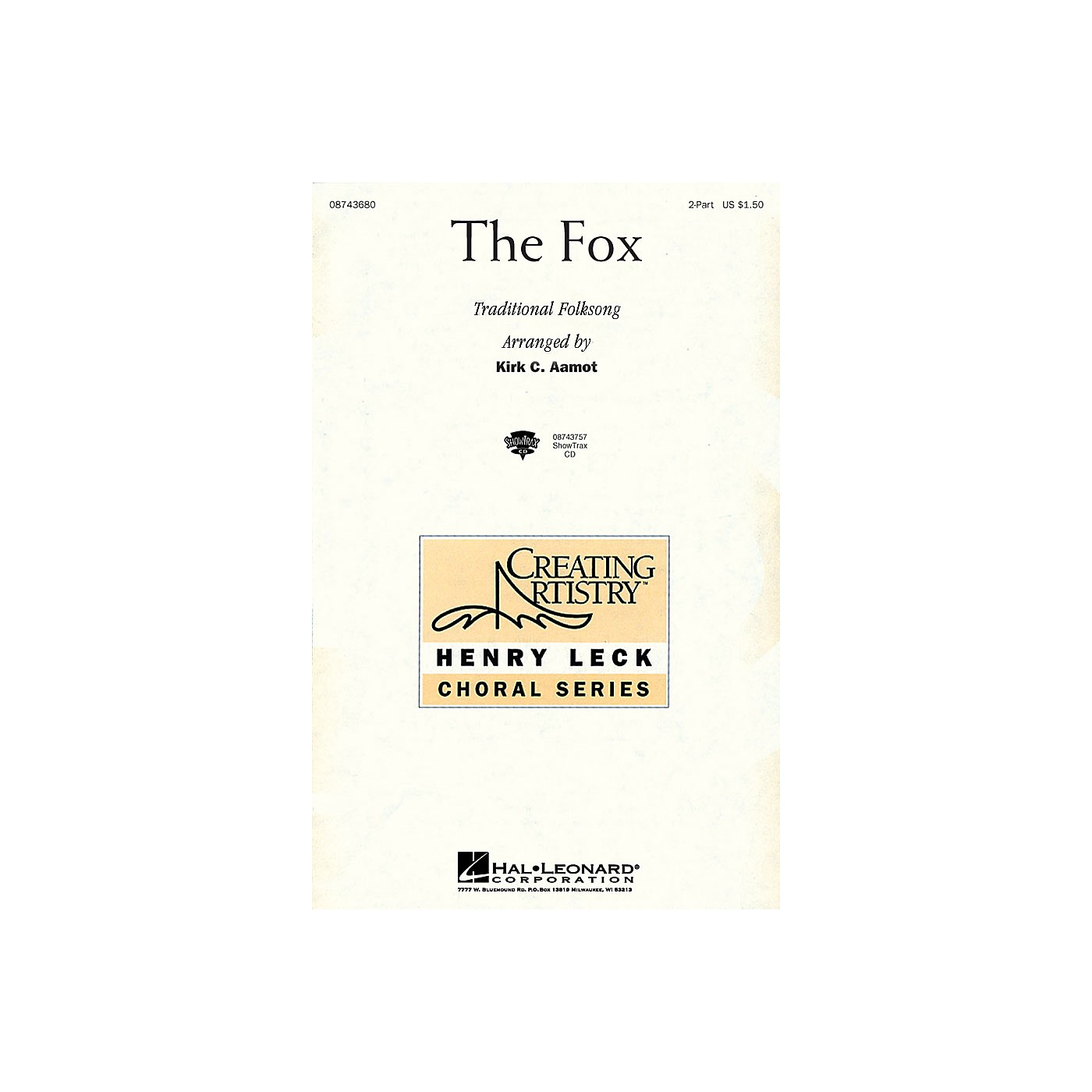 Hal Leonard The Fox ShowTrax CD Arranged by Kirk Aamot thumbnail