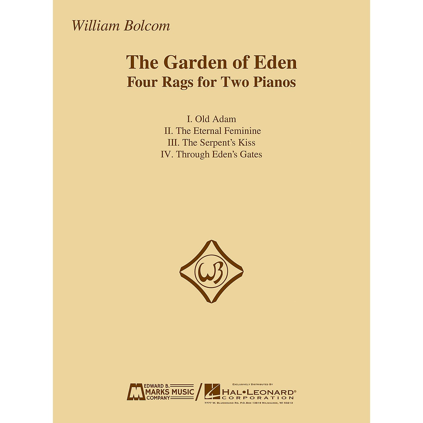 Edward B. Marks Music Company The Garden of Eden (Four Rags for Two Pianos) E.B. Marks Series Softcover Composed by William Bolcom thumbnail