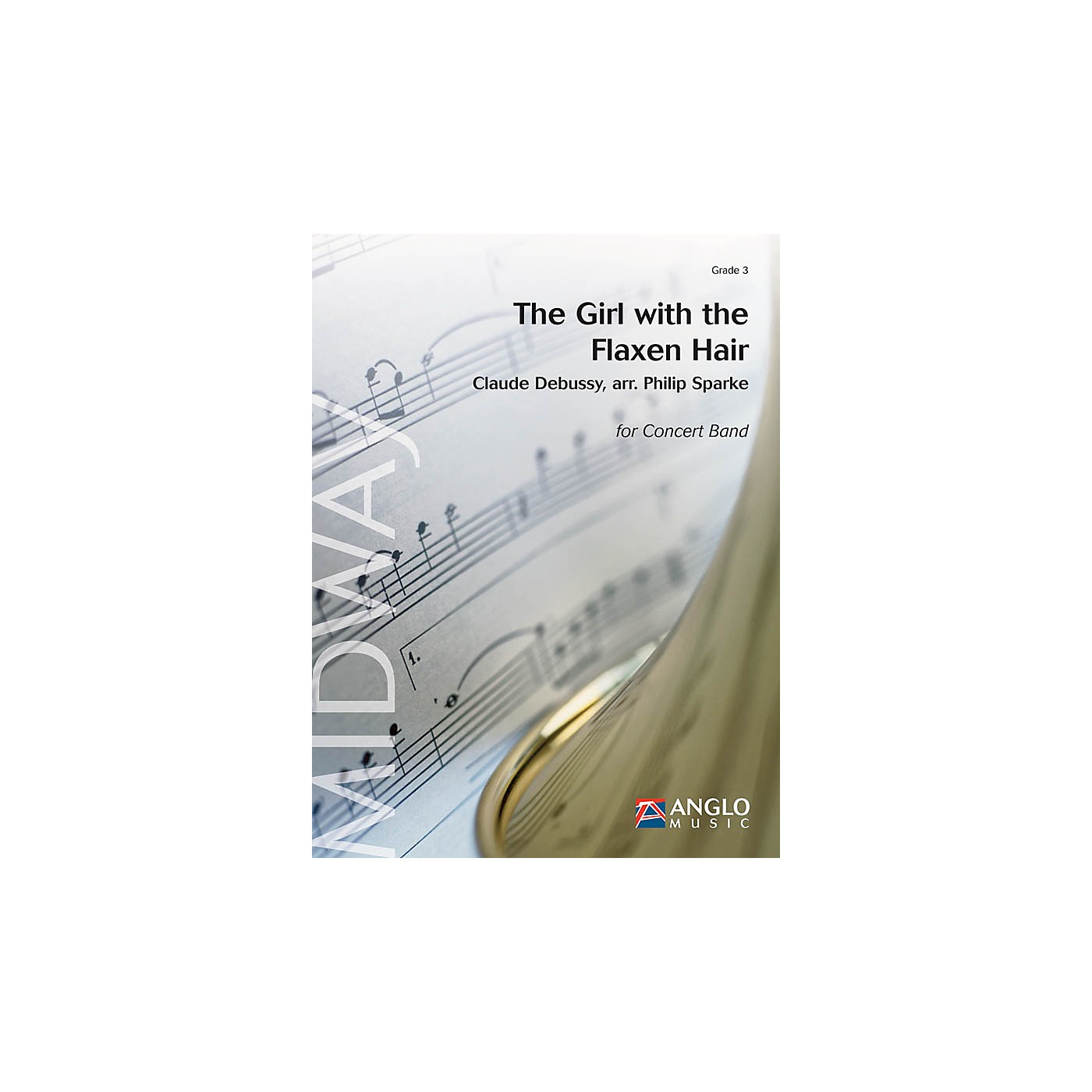 De Haske Music The Girl with the Flaxen Hair (Grade 3 - Score and Parts) Concert Band Level 3 Arranged by Philip Sparke thumbnail