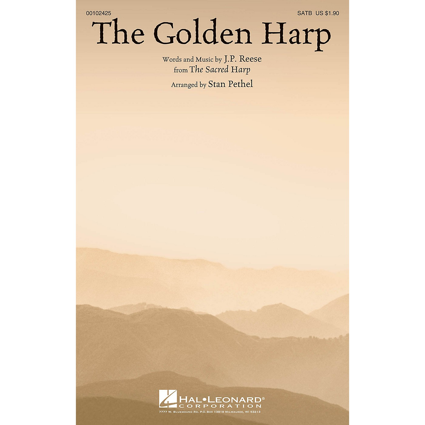 Hal Leonard The Golden Harp SATB arranged by Stan Pethel thumbnail