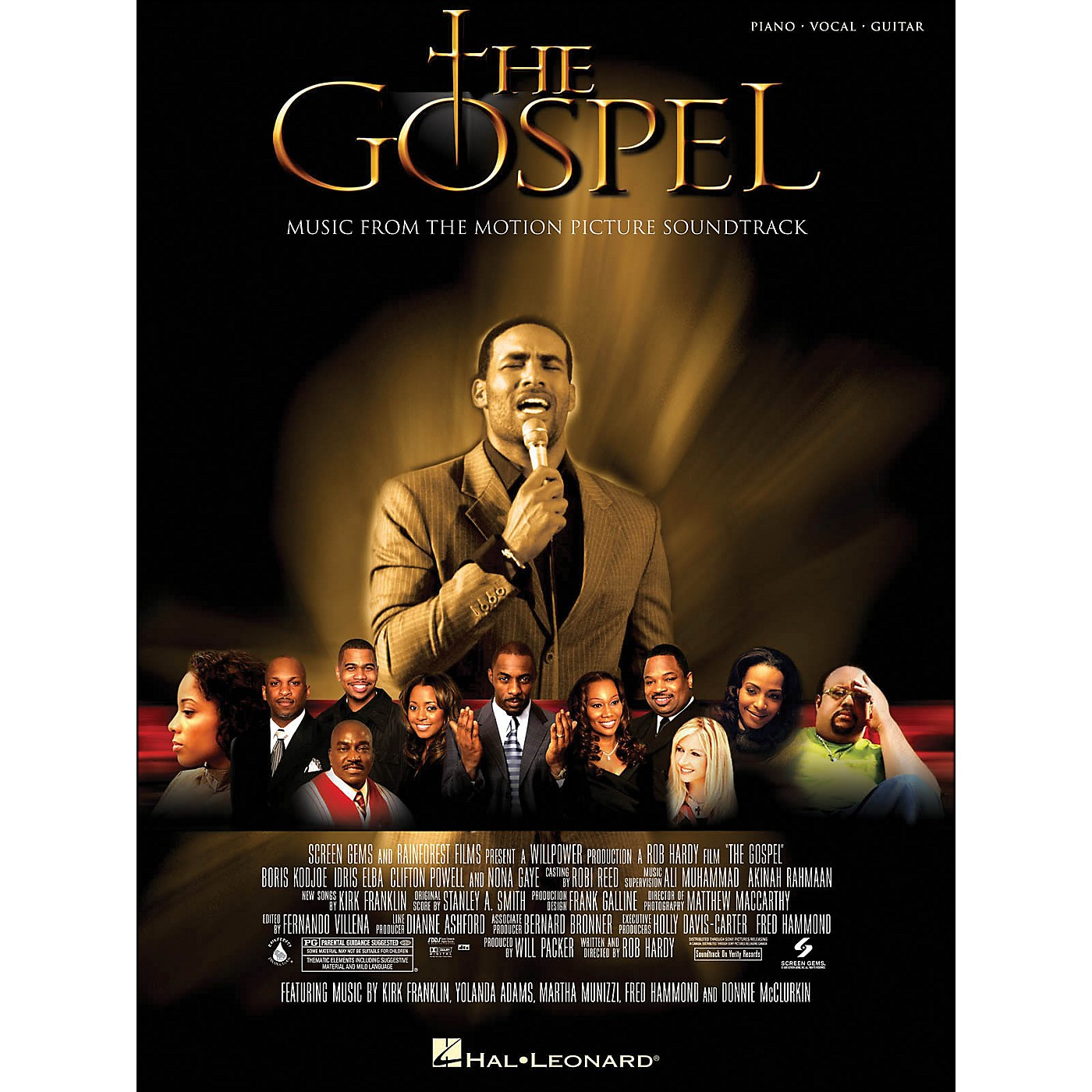 Hal Leonard The Gospel Music From The Motion Picture Soundtrack arranged for piano, vocal, and guitar (P/V/G) thumbnail