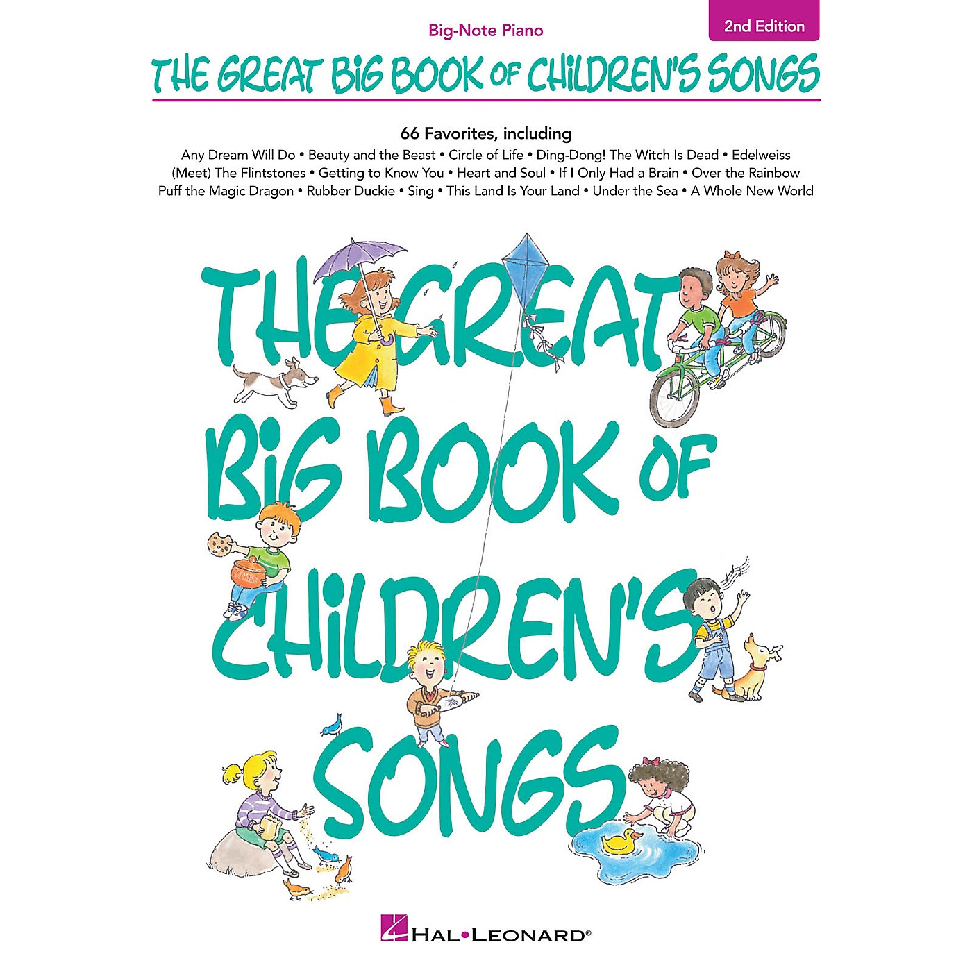 Hal Leonard The Great Big Book of Children's Songs - 2nd Edition Big Note Piano Songbook thumbnail