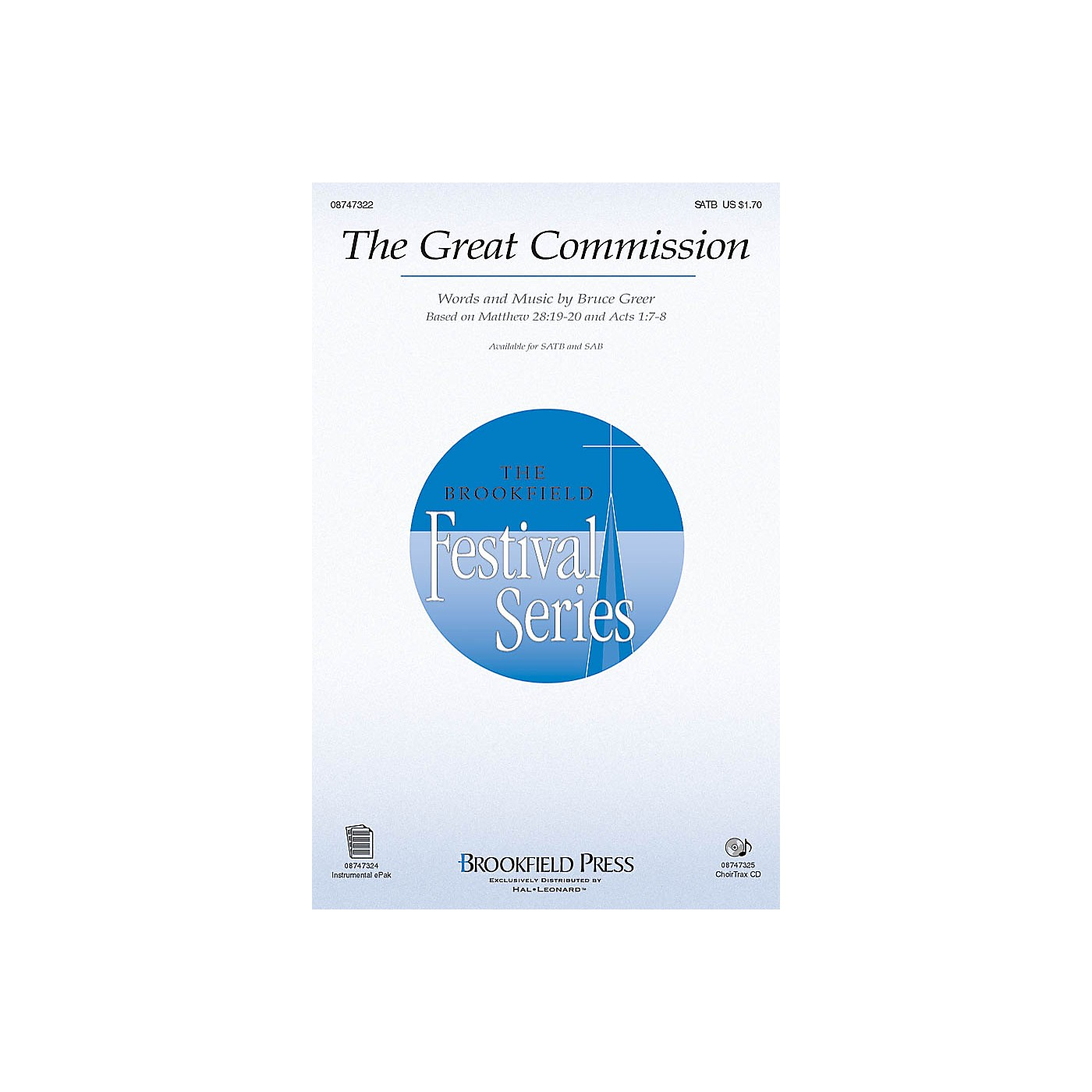 Brookfield The Great Commission CHOIRTRAX CD Composed by Bruce Greer thumbnail