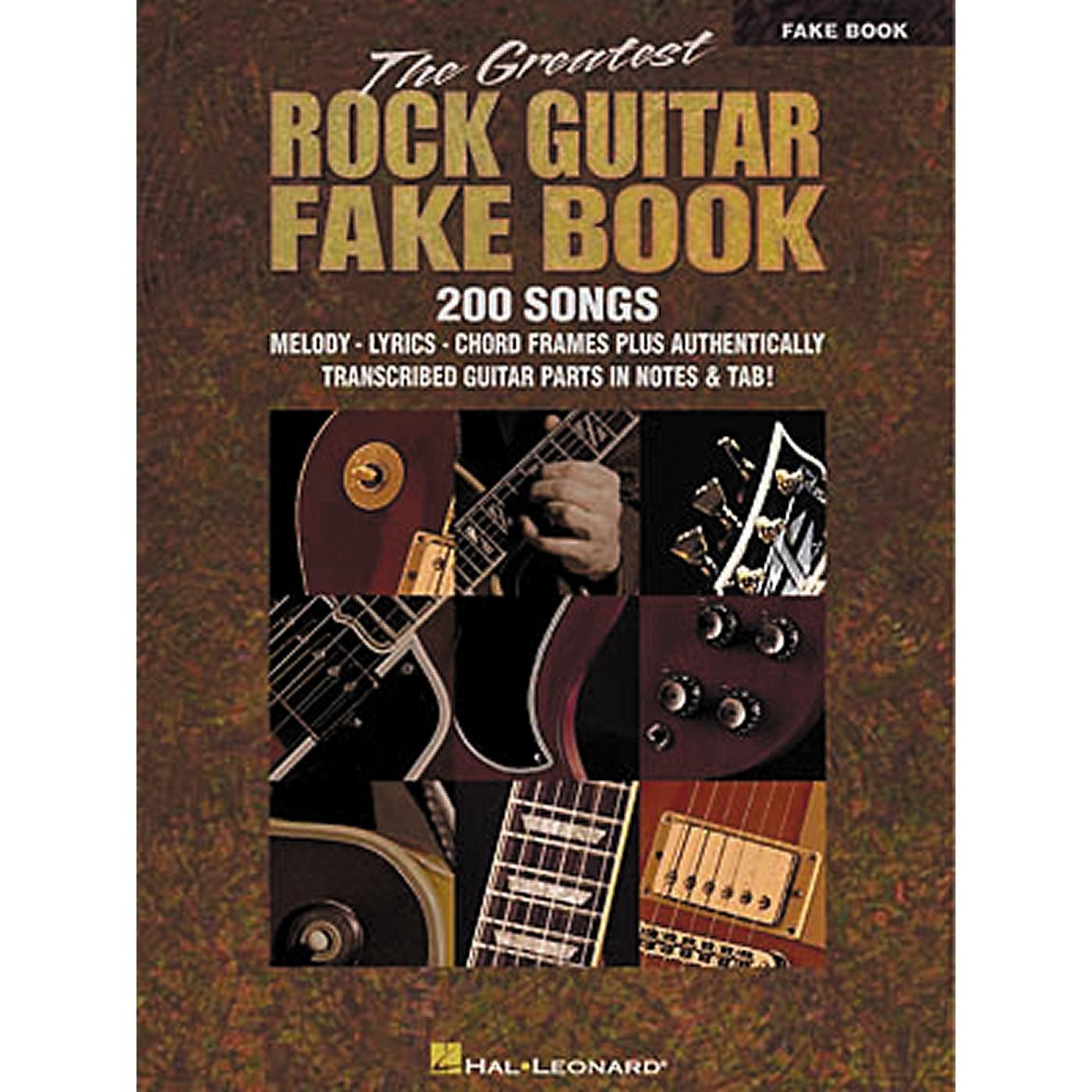 Hal Leonard The Greatest Rock Guitar Fake Book thumbnail