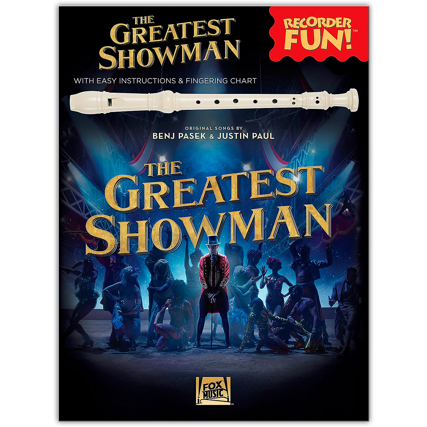 Hal Leonard The Greatest Showman - Recorder Fun! (with Easy Instructions & Fingering Chart) Recorder Songbook thumbnail