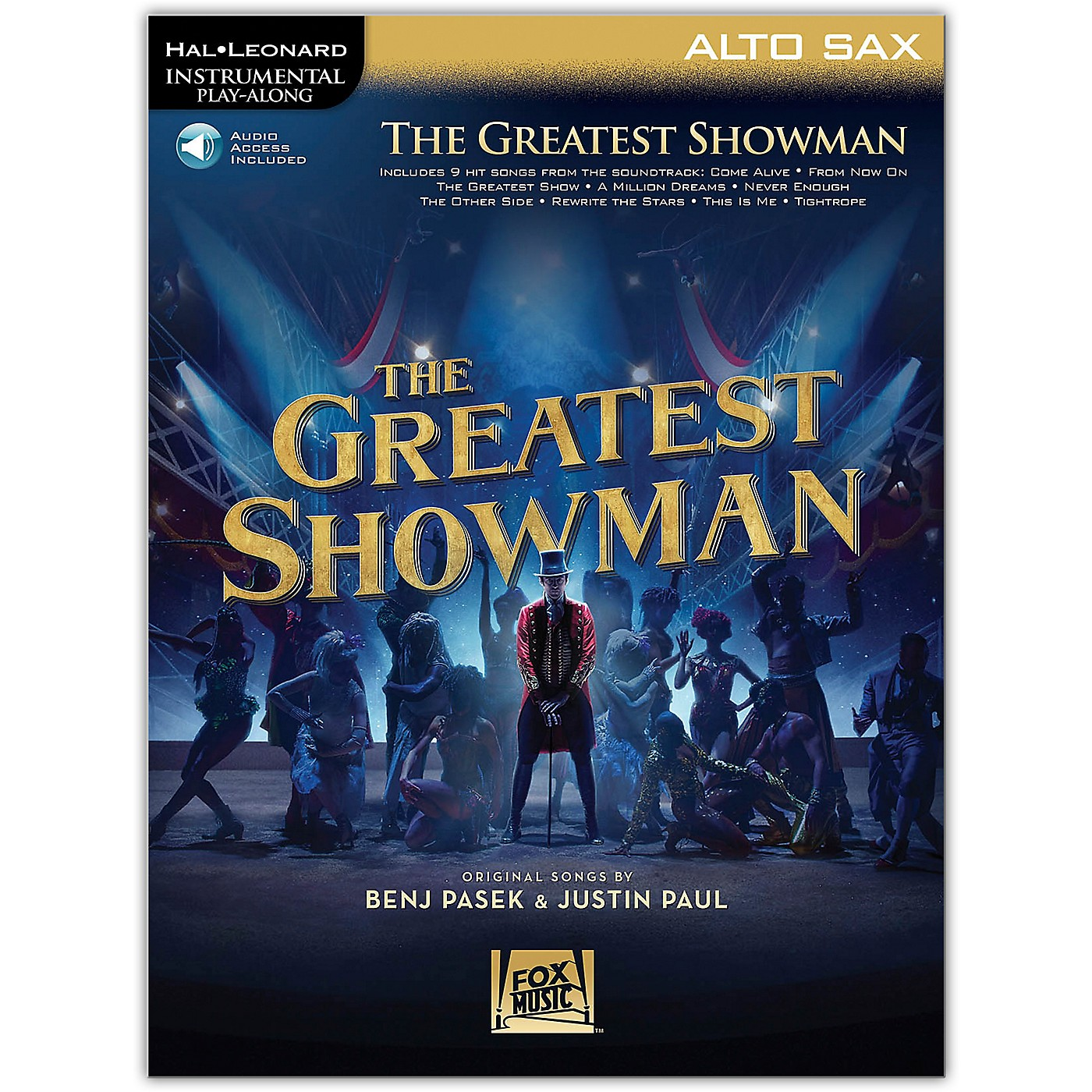 Hal Leonard The Greatest Showman Instrumental Play-Along Series for Alto Sax Book/Online Audio thumbnail