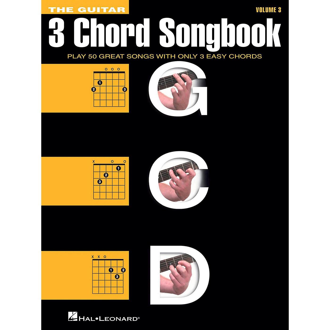 Hal Leonard The Guitar Three Chord Songbook Volume 3  G-C-D thumbnail