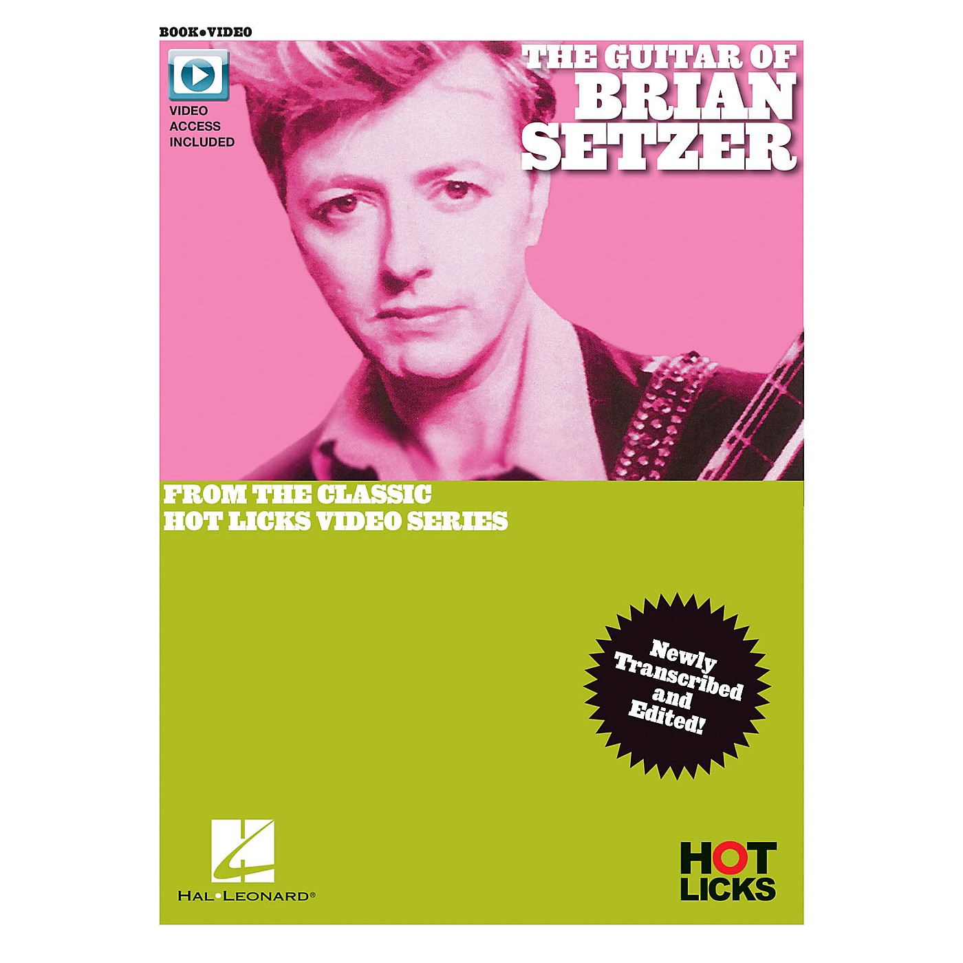 Hal Leonard The Guitar of Brian Setzer From the Classic Hot Licks Video Series Book/Video Online thumbnail