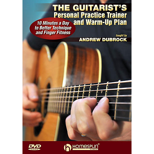 Homespun The Guitarist's Personal Practice Trainer and Warm-Up Plan Homespun Tapes Series DVD by Andrew DuBrock thumbnail