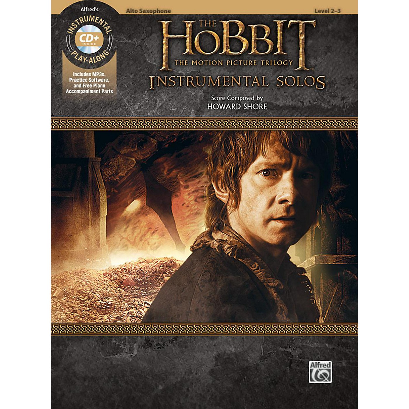 Alfred The Hobbit - The Motion Picture Trilogy Instrumental Solos Alto Sax Book & CD Level 2-3 Songbook thumbnail