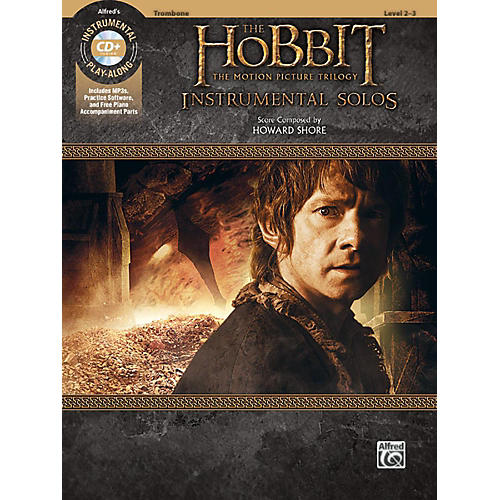 Alfred The Hobbit - The Motion Picture Trilogy Instrumental Solos Trombone Book & CD Level 2-3 Songbook thumbnail