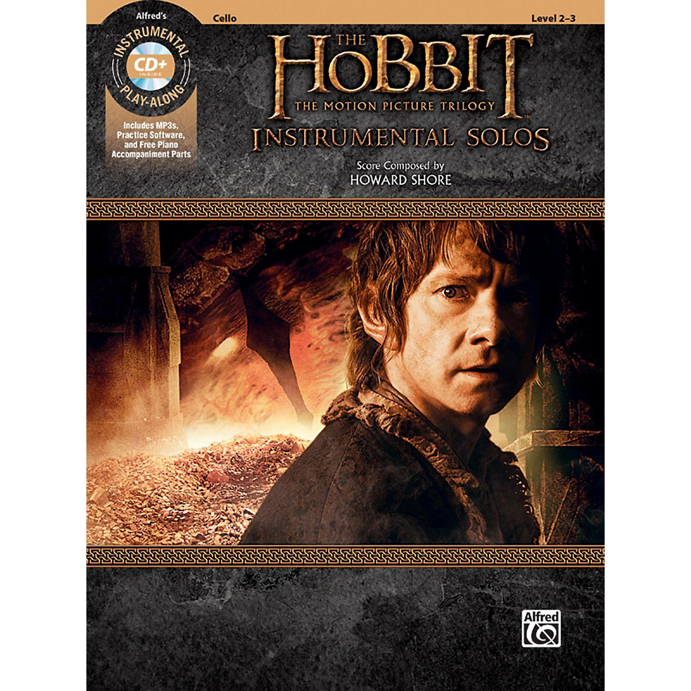 Alfred The Hobbit - The Motion Picture Trilogy Instrumental Solos for Strings Cello Book & CD Level 2-3 Songbook thumbnail