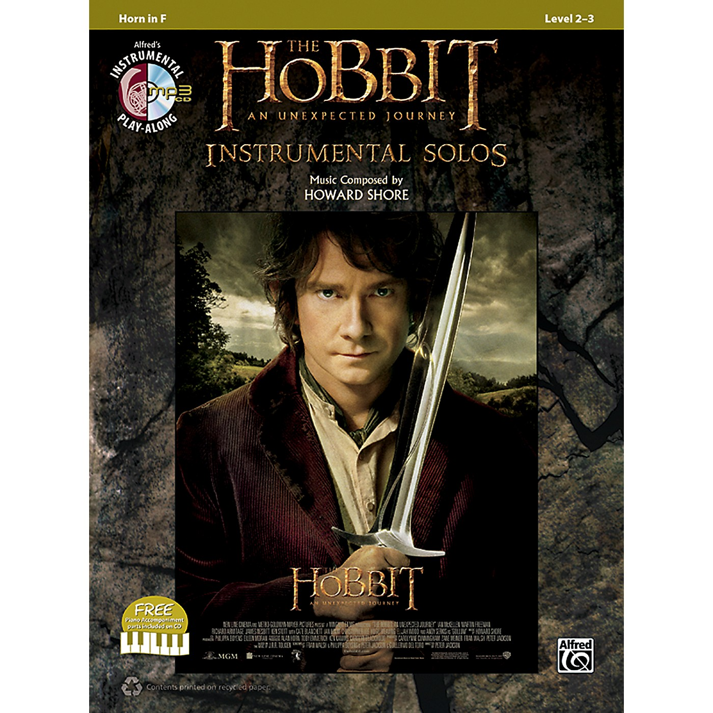 Alfred The Hobbit: An Unexpected Journey Instrumental Solos Horn in F (Book/CD) thumbnail