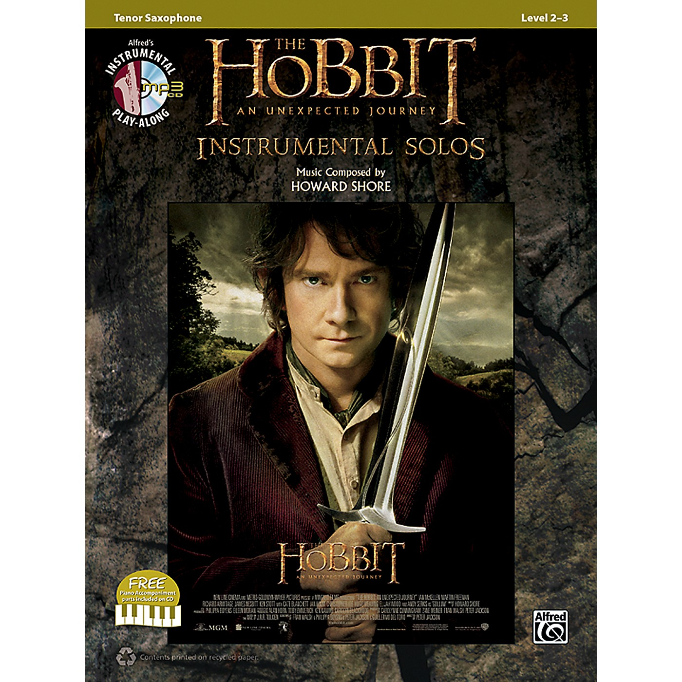 Alfred The Hobbit: An Unexpected Journey Instrumental Solos Tenor Sax (Book/CD) thumbnail
