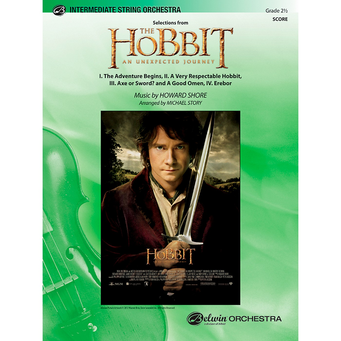 Alfred The Hobbit: An Unexpected Journey, Selections from String Orchestra Grade 2.5 Set thumbnail