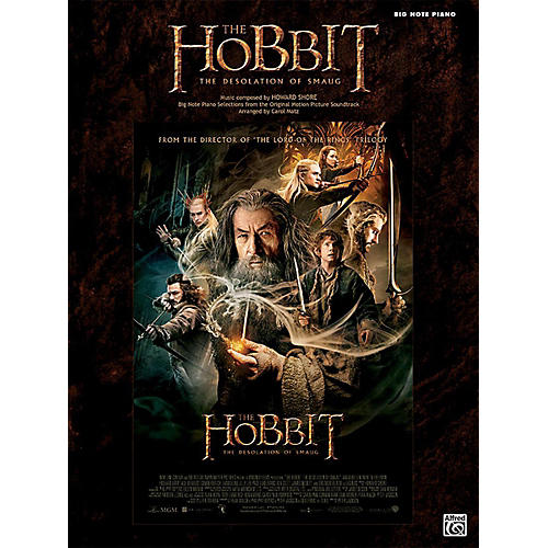 Alfred The Hobbit The Desolation of Smaug Big Note Piano Book thumbnail