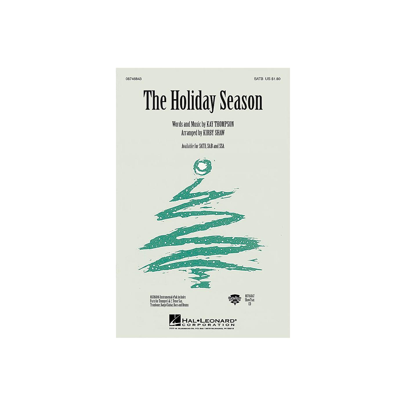 Hal Leonard The Holiday Season ShowTrax CD Arranged by Kirby Shaw thumbnail