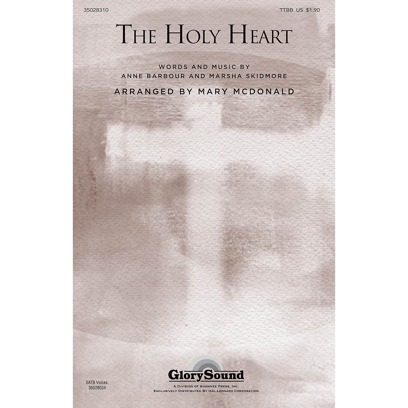 Shawnee Press The Holy Heart TTBB arranged by Mary McDonald thumbnail