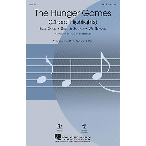Hal Leonard The Hunger Games (Choral Highlights) SAB by Taylor Swift Arranged by Roger Emerson thumbnail