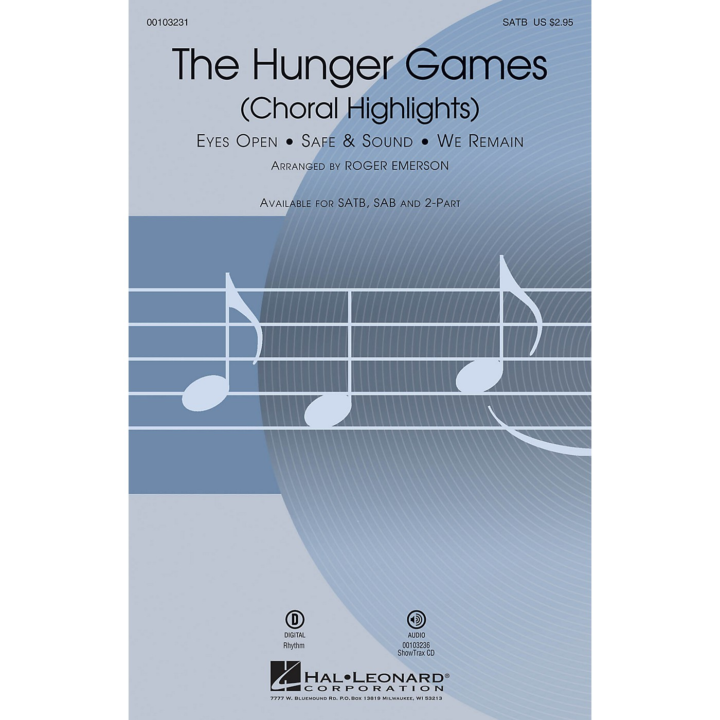 Hal Leonard The Hunger Games (Choral Highlights) SATB by Christina Aguilera arranged by Roger Emerson thumbnail