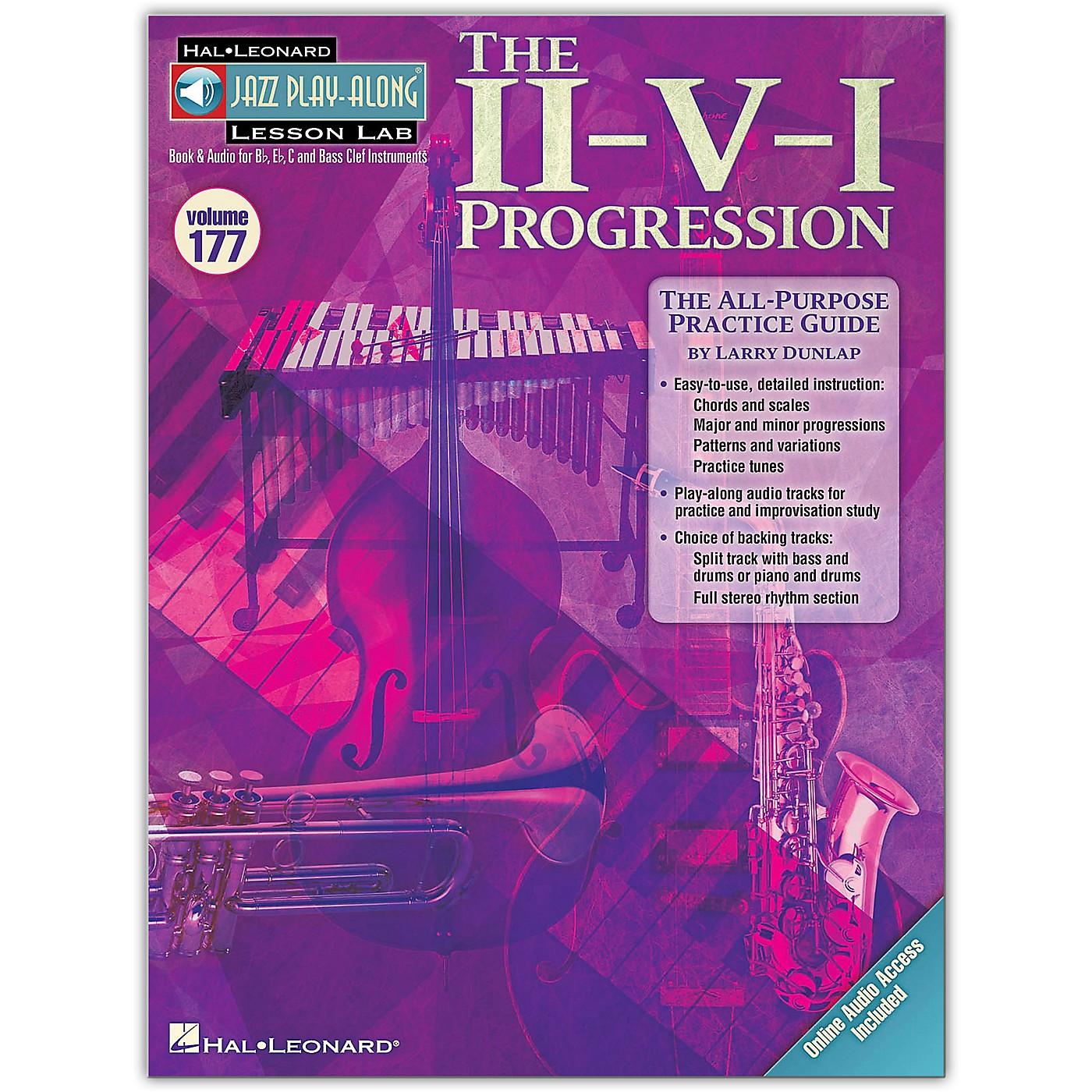 Hal Leonard The II-V-I Progression - Jazz Play-Along Lesson Lab Vol. 177 Book/Online Audio thumbnail