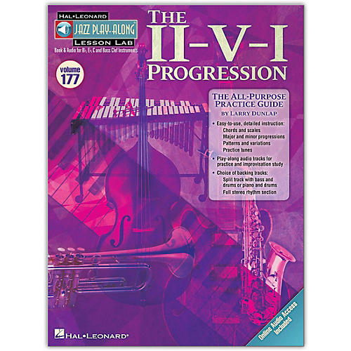 Hal Leonard The II-V-I Progression - Jazz Play-Along Lesson Lab Vol. 177 Book/Online Audio thumbnail