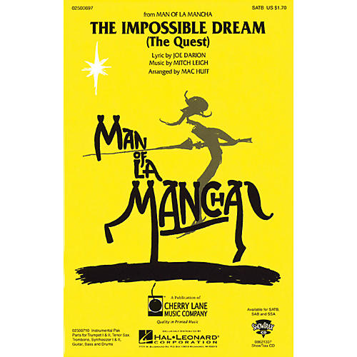 Cherry Lane The Impossible Dream (from Man of La Mancha) Combo Parts Arranged by Mac Huff thumbnail