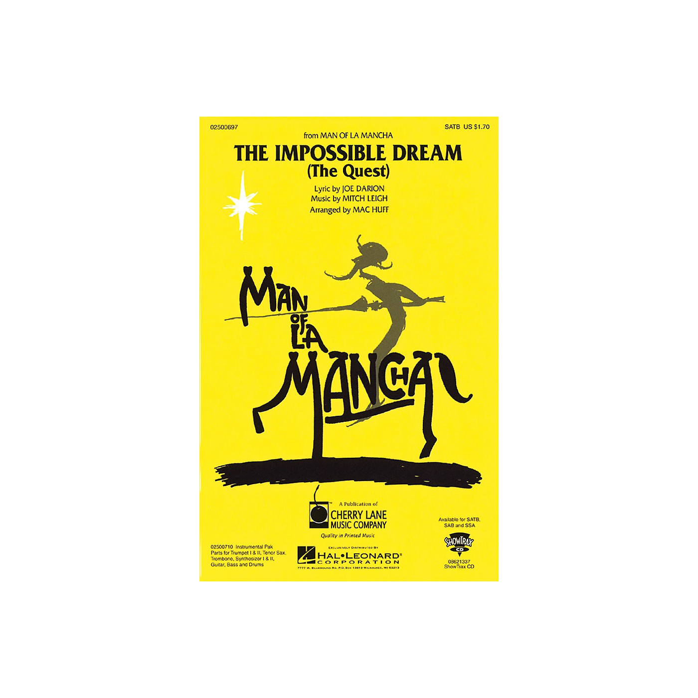 Cherry Lane The Impossible Dream (from Man of La Mancha) SSA Arranged by Mac Huff thumbnail