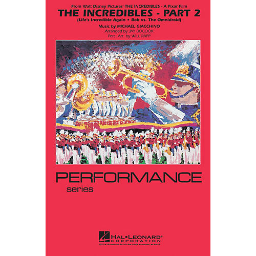 Hal Leonard The Incredibles - Part 2 Marching Band Level 4 Arranged by Jay Bocook thumbnail