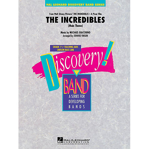 Hal Leonard The Incredibles Concert Band Level 1.5 Arranged by Johnnie Vinson thumbnail