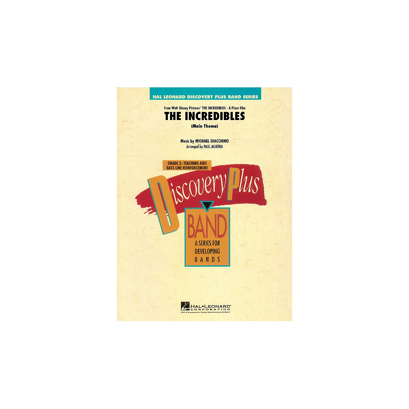 Hal Leonard The Incredibles (Main Theme) - Discovery Plus Concert Band Series Level 2 arranged by Paul Murtha thumbnail