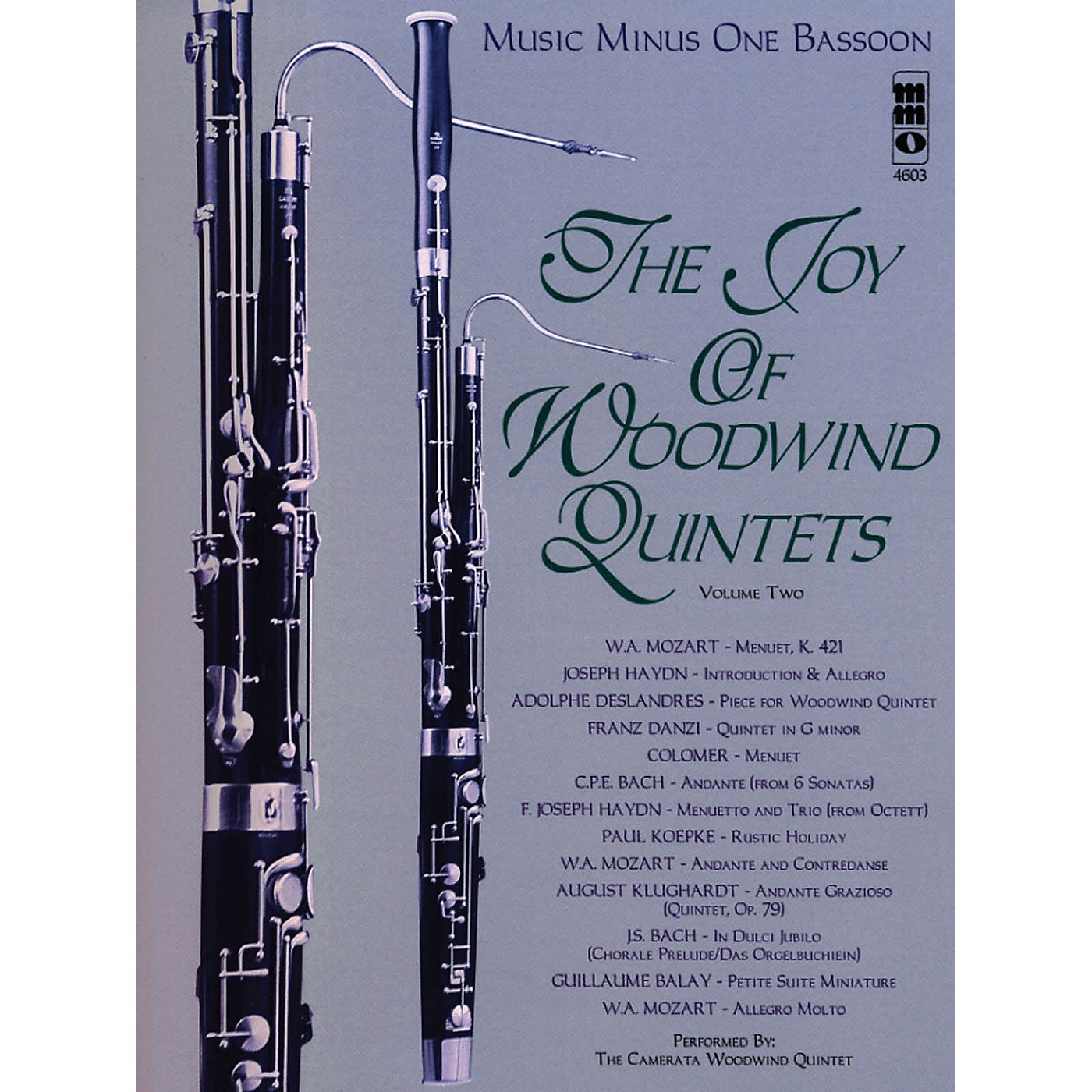Music Minus One The Joy of Woodwind Quintets - Volume Two Music Minus One Series Softcover with CD Composed by Various thumbnail