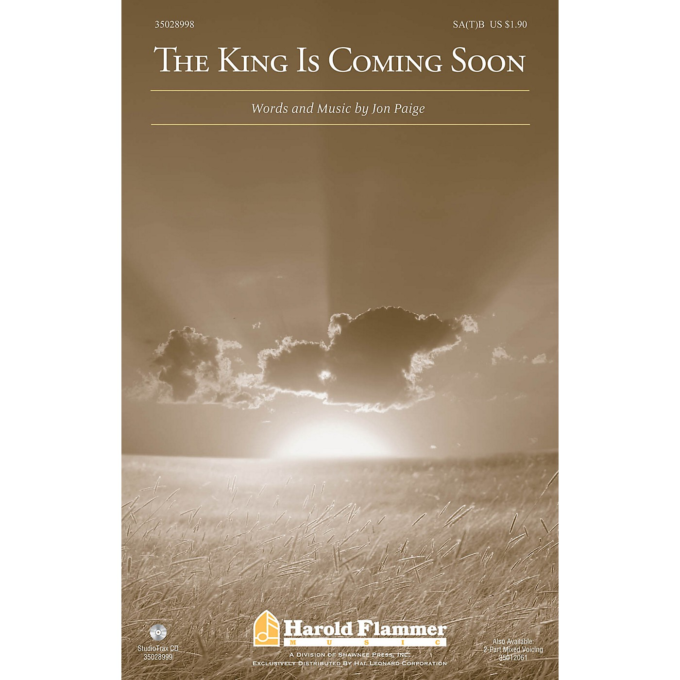 Shawnee Press The King Is Coming Soon 2 Part Mixed Composed by Jon Paige thumbnail