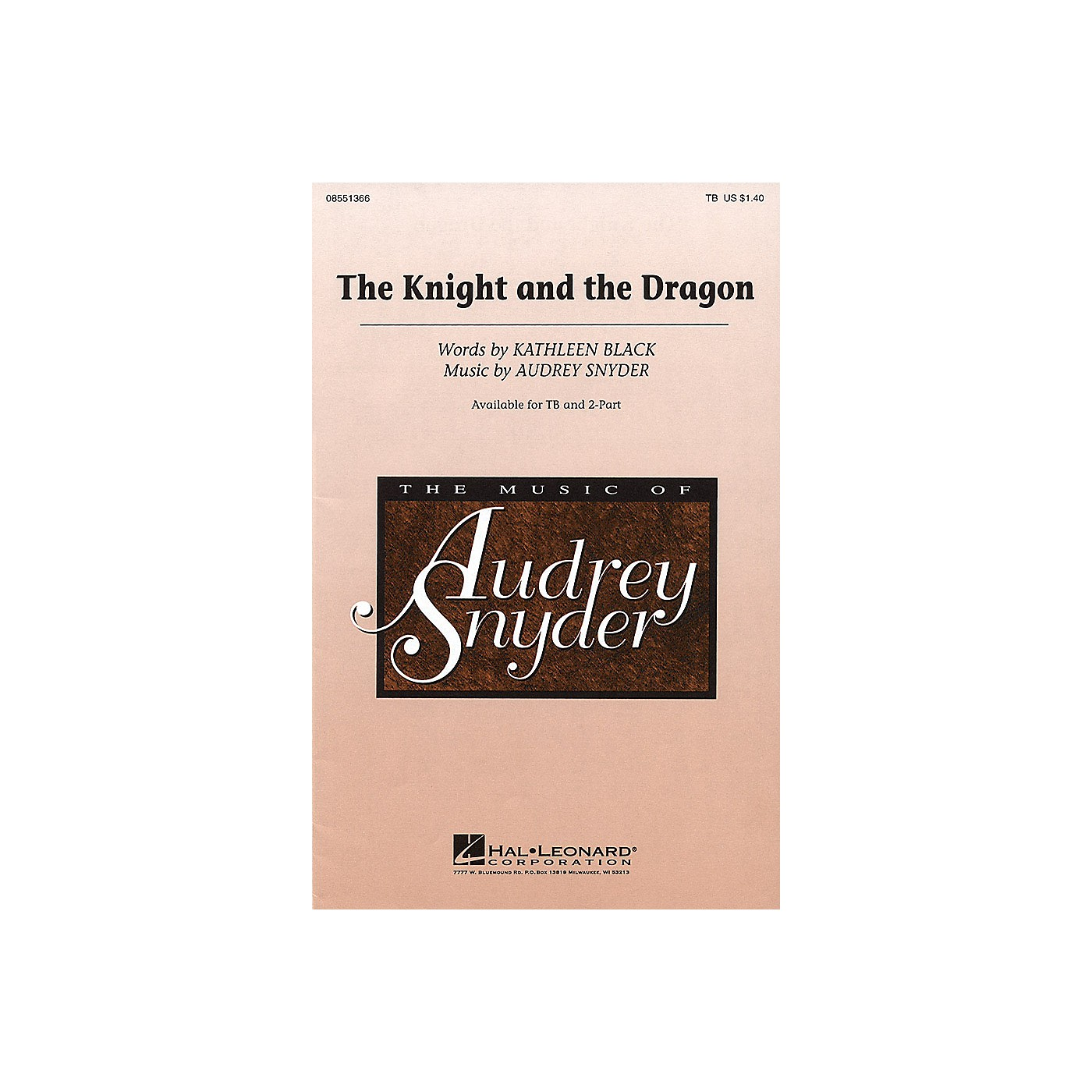 Hal Leonard The Knight and the Dragon TB composed by Audrey Snyder thumbnail