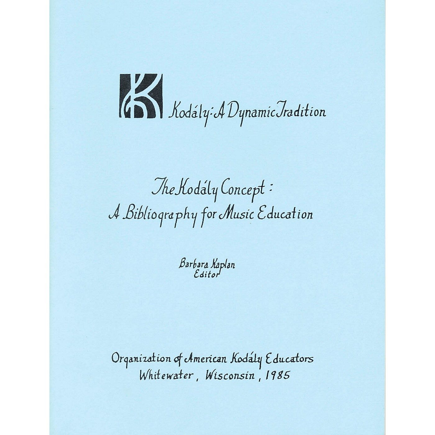 Boosey and Hawkes The Kodály Concept: A Bibliography for Music Education thumbnail