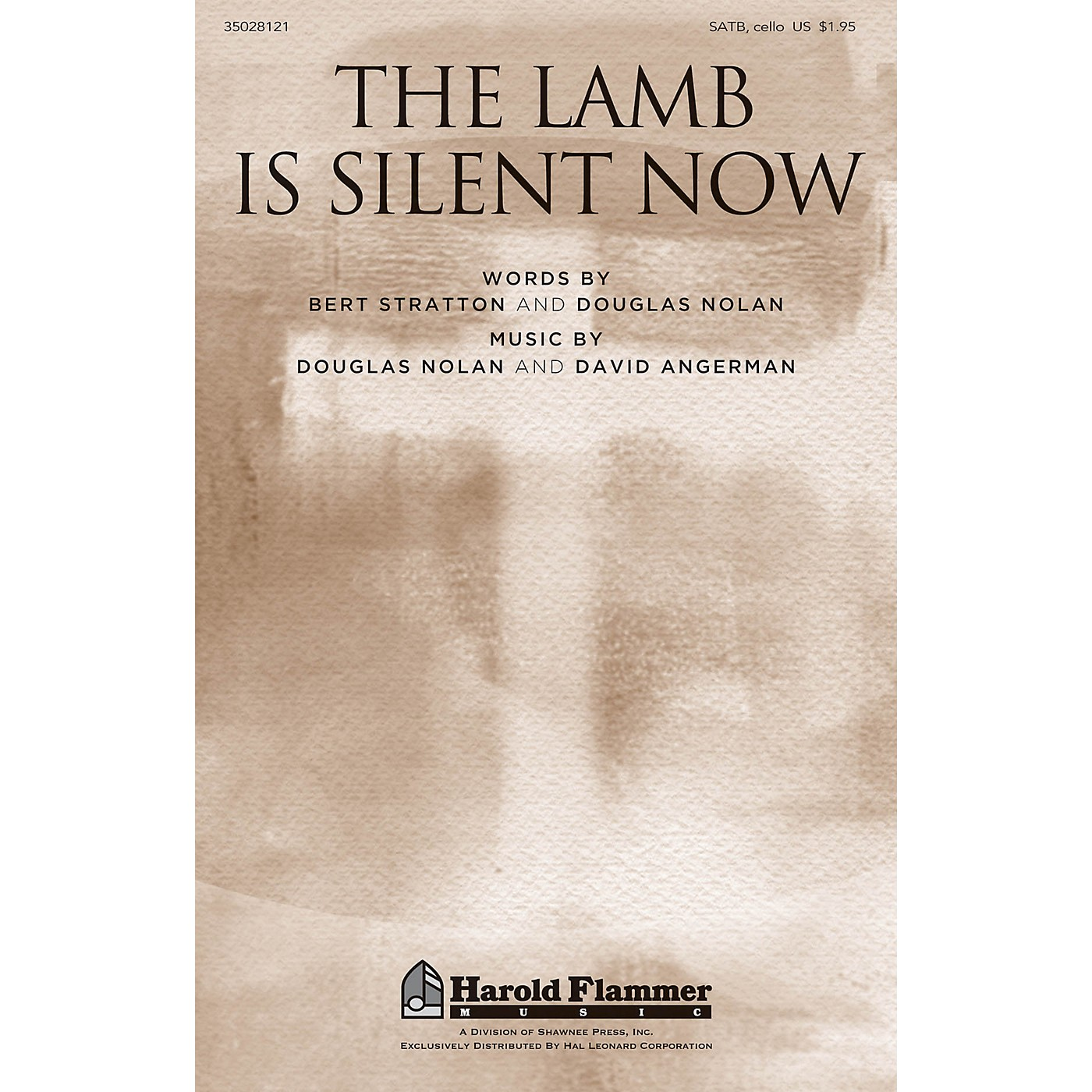 Shawnee Press The Lamb Is Silent Now SATB W/ CELLO composed by David Angerman thumbnail