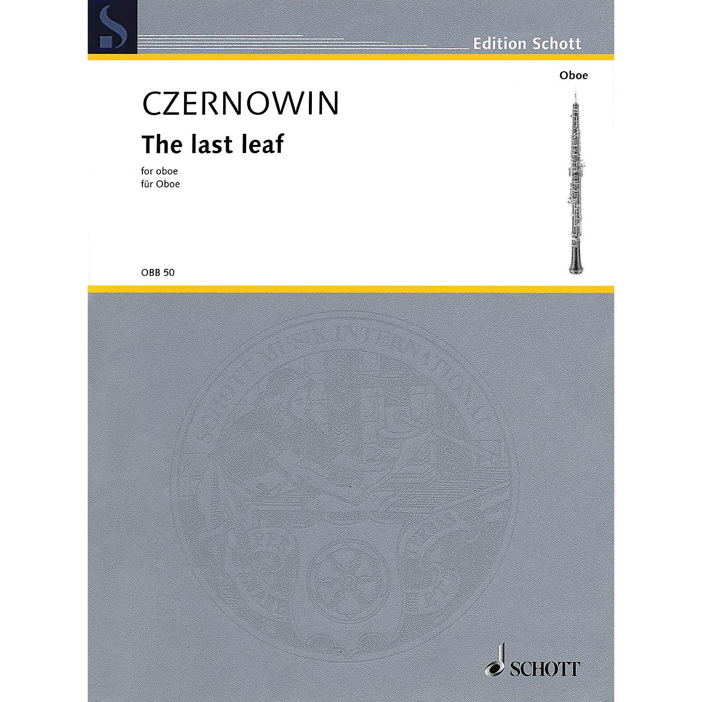 Schott The Last Leaf (Oboe Solo) Woodwind Solo Series Book thumbnail