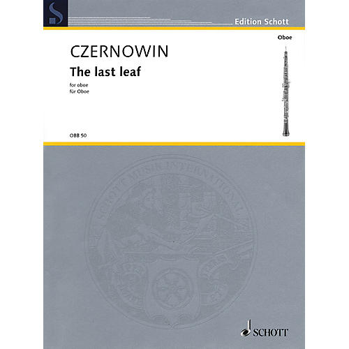 Schott The Last Leaf (Oboe Solo) Woodwind Solo Series Book thumbnail