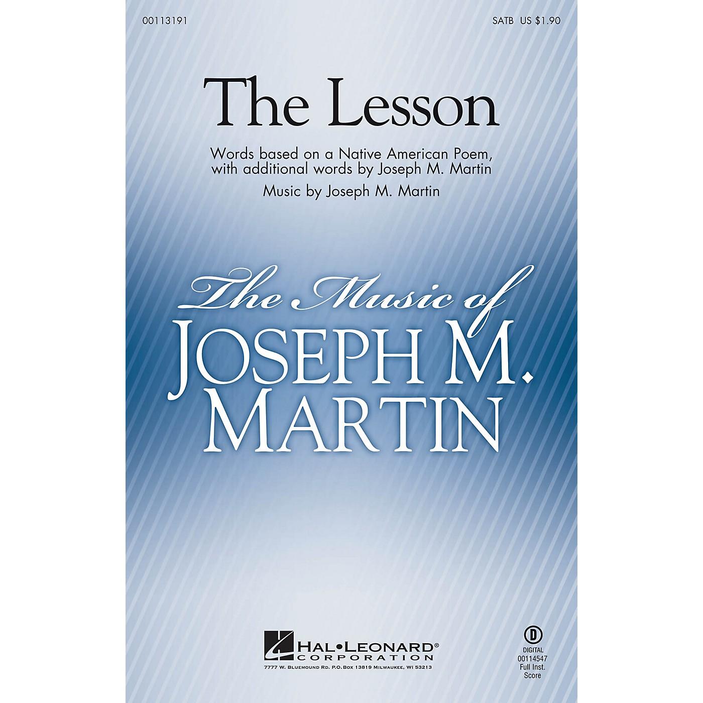 Hal Leonard The Lesson SATB composed by Joseph M. Martin thumbnail