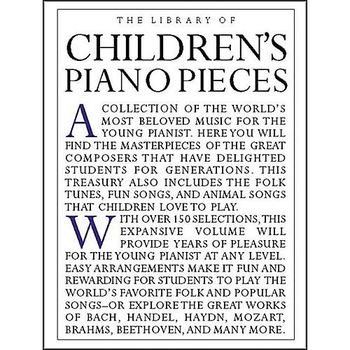 Music Sales The Library Of Children's Piano Pieces thumbnail
