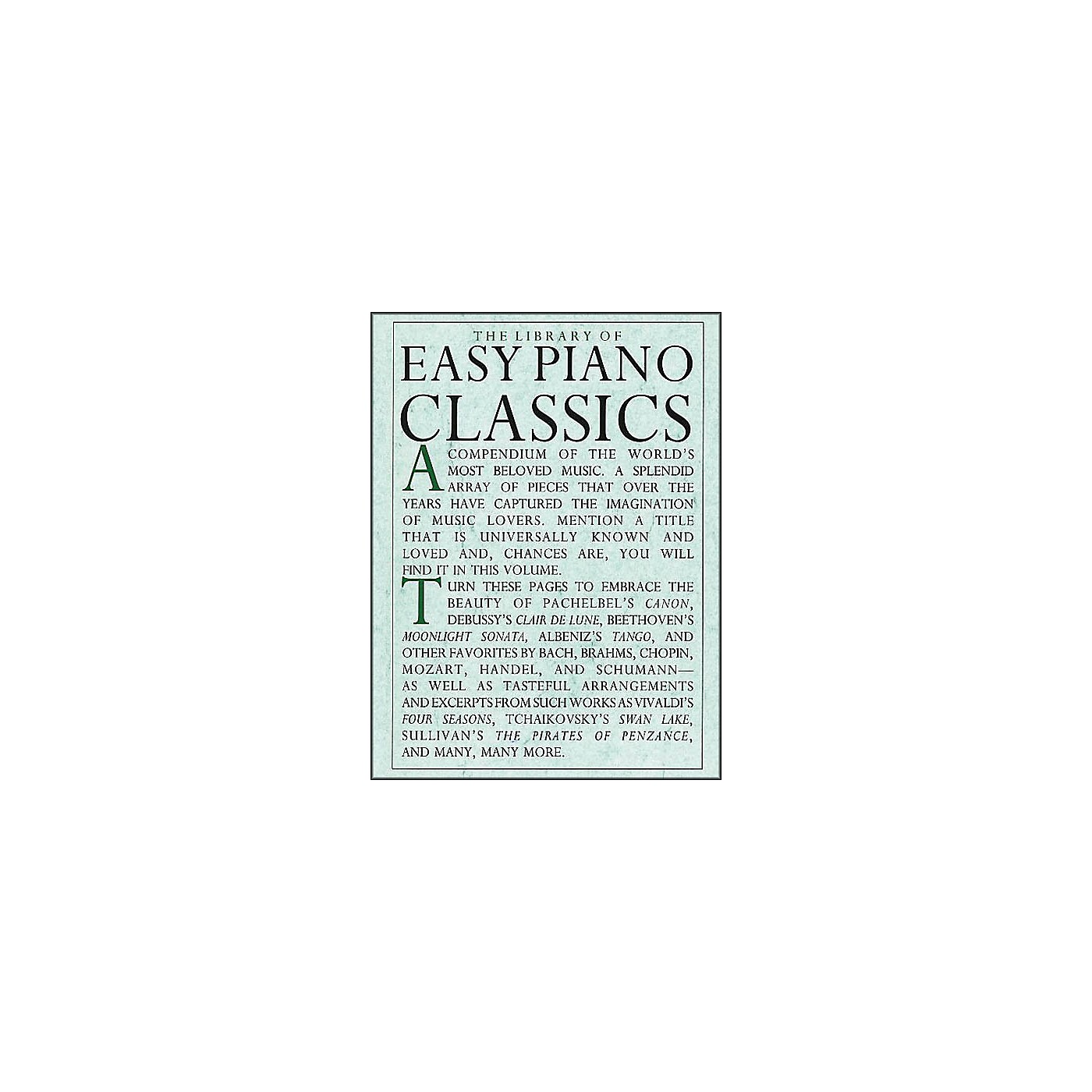 Music Sales The Library Of Easy Piano Classics thumbnail