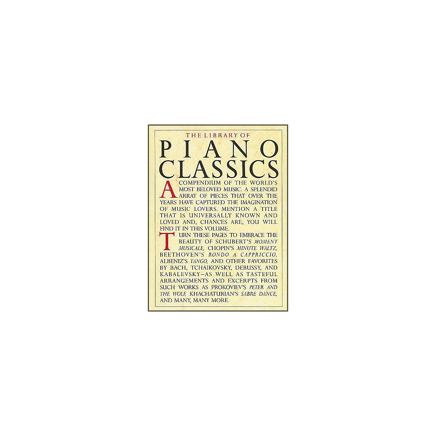 Music Sales The Library Of Piano Classics thumbnail