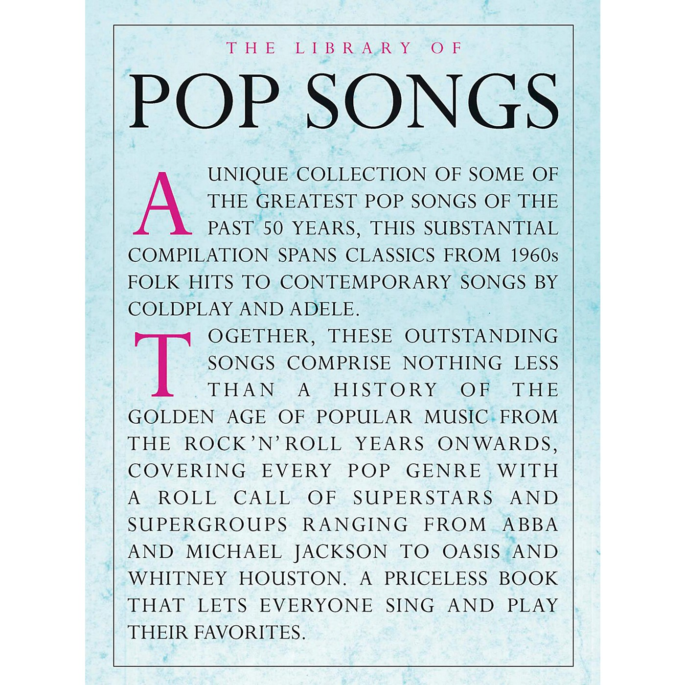 Music Sales The Library Of Pop Songs Piano/Vocal/Guitar thumbnail