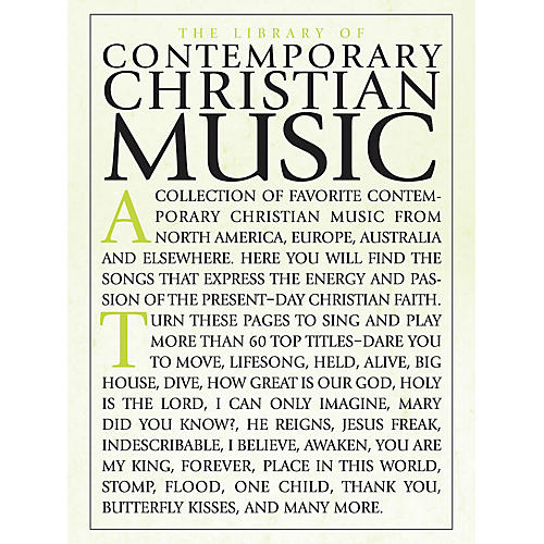 Shawnee Press The Library of Contemporary Christian Music Composed by Various thumbnail