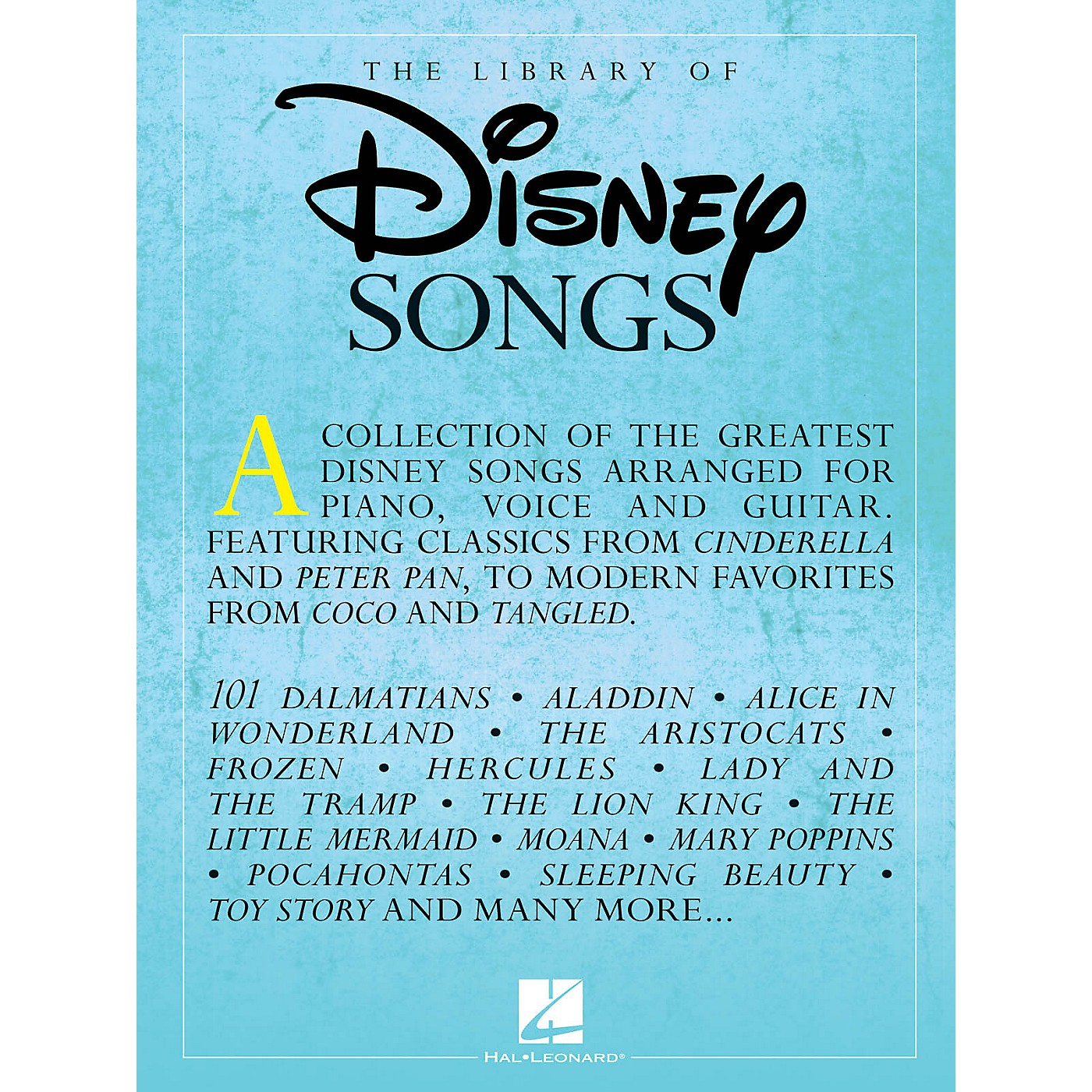 Hal Leonard The Library of Disney Songs Piano/Vocal/Guitar Songbook thumbnail